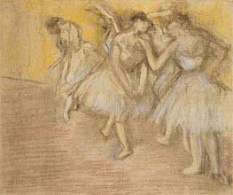 Degas | Five Dancers on Stage, c.1906/08 | Giclée Paper Print