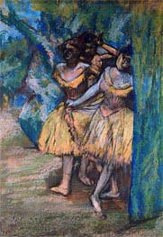 Degas | Three Dancers with a Backdrop of Trees and Rocks, c.1904/06 | Giclée Paper Print