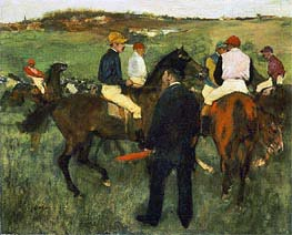 Degas | Racehorses (Leaving the Weighing), c.1874/78 | Giclée Canvas Print