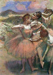 Degas | Four Dancers on Stage, undated | Giclée Paper Print