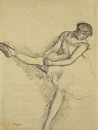 Degas | Dancer Seated, Readjusting her Stocking, c.1880 | Giclée Paper Print