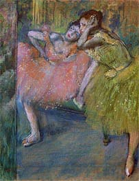 Degas | Two Dancers in the Foyer, c.1901 | Giclée Paper Print