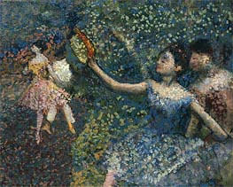 Degas | Dancer with a Tambourine, c.1897 | Giclée Canvas Print