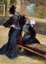 Degas | Visit to a Museum, c.1879/80 | Giclée Canvas Print
