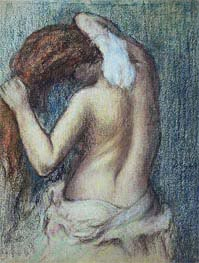 Degas | Woman at her Toilet | Giclée Paper Print