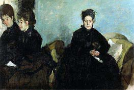 Degas | Duchesa di Montejasi with Her Daughters, Elena and Camilla, 1876 | Giclée Canvas Print