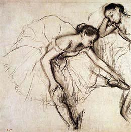 Degas | Two Dancers Resting, undated | Giclée Paper Print