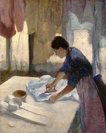 Degas | Woman Ironing | Giclée Canvas Print