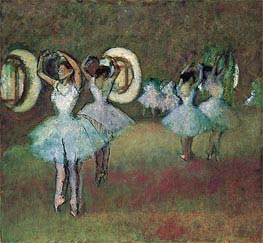 Degas | Dancers in the Rotunda at the Paris Opera | Giclée Canvas Print