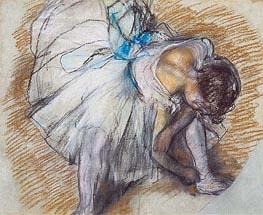 Degas | Dancer Adjusting her Shoe, 1885 | Giclée Paper Print