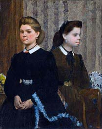 Degas | The Bellelli Sisters (Giovanna and Giuliana Bellelli), c.1865/66 | Giclée Canvas Print