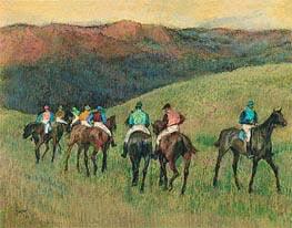 Degas | Racehorses in a Landscape, 1894 | Giclée Paper Print