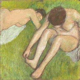 Degas | Two Bathers on the Grass | Giclée Canvas Print