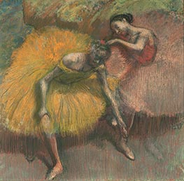 Degas | Two Dancers Yellow and Pink | Giclée Canvas Print