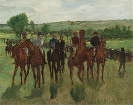 The Riders, c.1885 by Degas | Giclée Canvas Print