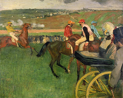 Amateur Jockeys on the Course, c.1876/87 | Degas | Painting Reproduction