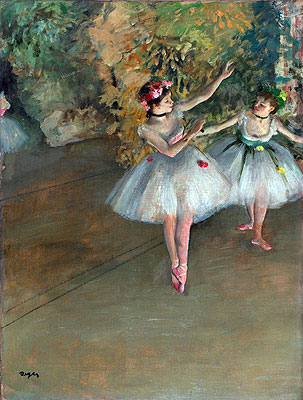 Two Dancers on a Stage, c.1874   Degas   Painting Reproduction