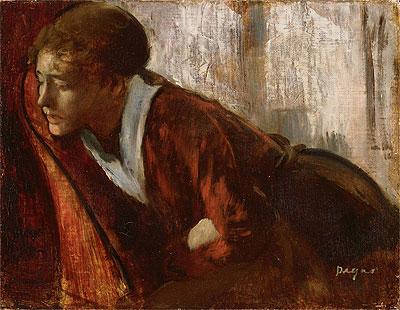 Melancholy, c.1874 | Degas | Painting Reproduction