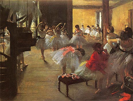 School of Ballet (Ecole de Danse), c.1873 | Degas | Painting Reproduction