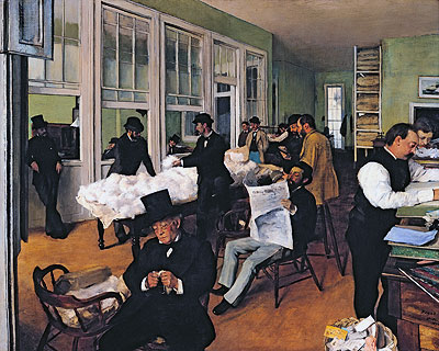 The Cotton Exchange in New Orleans, 1873   Degas   Painting Reproduction