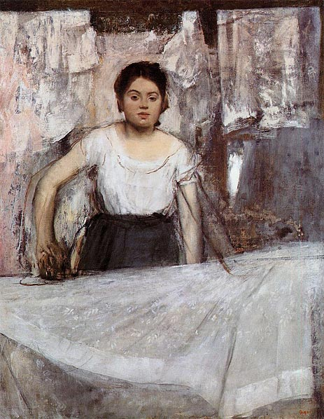 Woman Ironing (The Laundress), c.1869 | Degas | Painting Reproduction