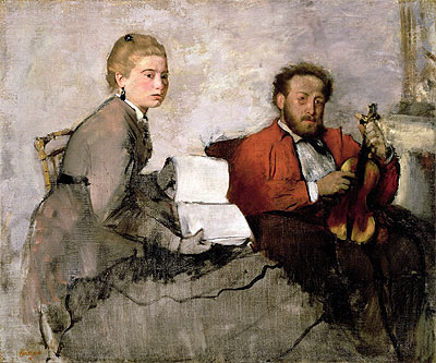Violinist and Young Woman, c.1871 | Degas | Painting Reproduction