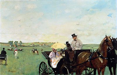 A Carriage at the Races in the Countryside, 1869 | Degas | Painting Reproduction