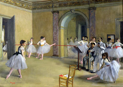 Dance Class at the Opera on Le Peletier Str., 1872   Degas   Painting Reproduction