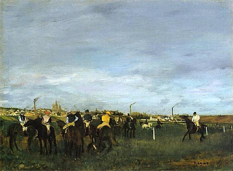 Before the Race, c.1873 | Degas | Painting Reproduction
