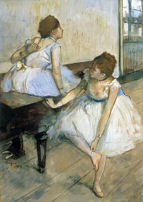 Two Dancers Resting, 1874 | Degas | Painting Reproduction