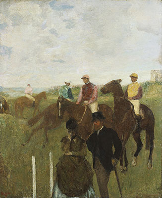 Jockeys at the Racecourse, undated | Degas | Painting Reproduction