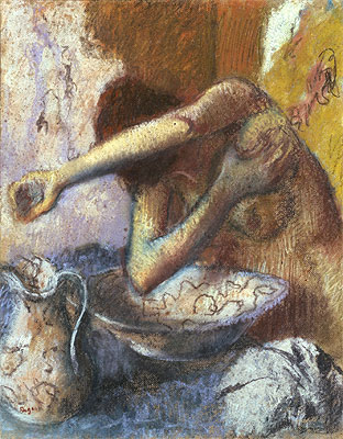 Woman at her Toilet, c.1887 | Degas | Painting Reproduction