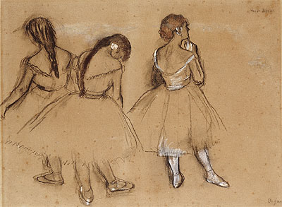 Three Dancers, undated | Degas | Painting Reproduction
