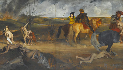 Scene of War in the Middle Ages, c.1865 | Degas | Painting Reproduction