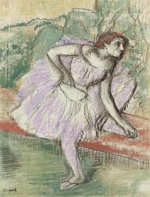 Violet Dancer, c.1895/98 | Degas | Painting Reproduction