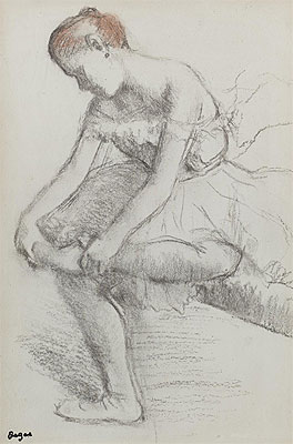 Seated Dancer, c.1896 | Degas | Painting Reproduction