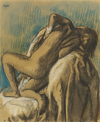 At Rest after the Bath, c.1895 | Degas | Painting Reproduction