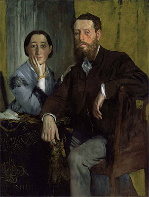 Edmondo and Therese Morbilli, c.1867 | Degas | Painting Reproduction