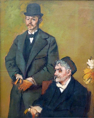 Henri Rouart with His Son Alexis, 1895 | Degas | Painting Reproduction
