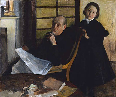 Degas | Henri Degas and His Niece Lucie Degas, c.1875/76 | Giclée Canvas Print