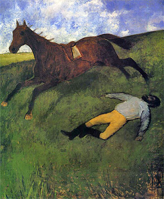 Degas | The Fallen Jockey, c.1896/98 | Giclée Canvas Print
