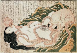 The Dream of the Fisherman's Wife, 1814 by Hokusai | Giclée Paper Print