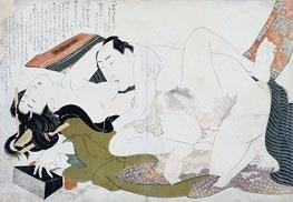 Hokusai | Examples of Loving Couples (Tsuhi no Hinagata) | Giclée Paper Print