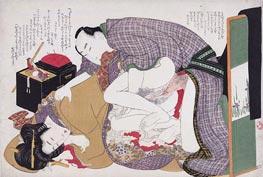 Hokusai | Love Couple at Sewing Box | Giclée Paper Print
