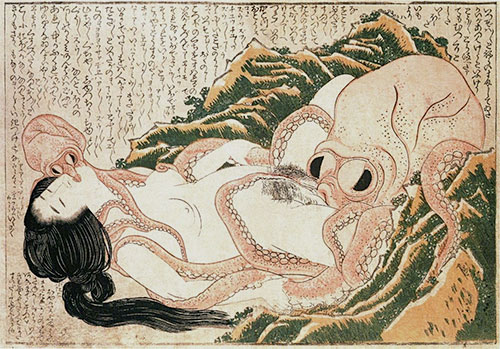 The Dream of the Fisherman's Wife, 1814 | Hokusai | Painting Reproduction