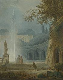 The Fountain, c.1775/78 by Hubert Robert | Giclée Canvas Print