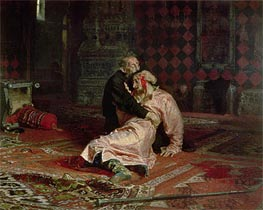 Repin | Ivan the Terrible and his Son on the 16th November, 1581, 1885 | Giclée Canvas Print