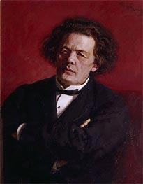 Repin | Portrait of Anton Grigoryevich Rubinstein, 1881 | Giclée Canvas Print