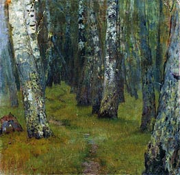 Isaac Levitan | Birches. Grove Outskirts | Giclée Canvas Print