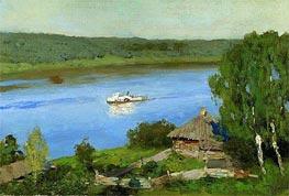 Isaac Levitan | Landscape with Steamship, c.1888/90 | Giclée Canvas Print